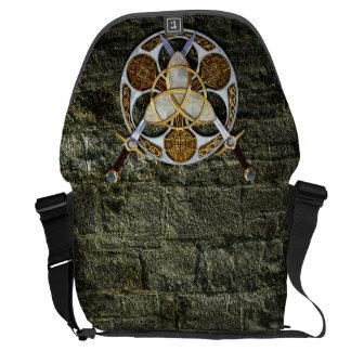 Celtic Shield and Swords Messenger Bag