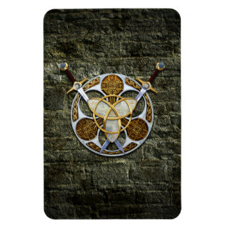 Celtic Shield and Swords Flexible Magnet