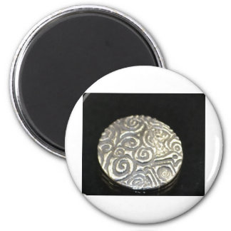 celtic silver 6 cm round magnet