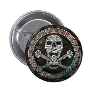 Celtic Skull & Crossbones Button