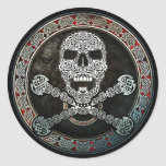 Celtic Skull & Crossbones Stickers