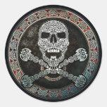 Celtic Skull & Crossbones Stickers
