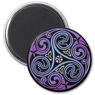 Celtic Spiral #1 6 Cm Round Magnet