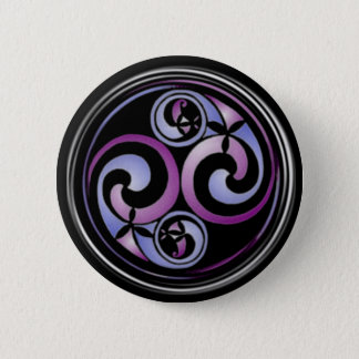 Celtic Spiral #2 6 Cm Round Badge