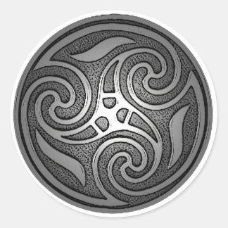 Celtic Spiral Classic Round Sticker