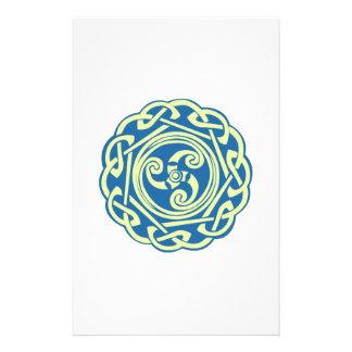 Celtic Spiral Stationery Paper