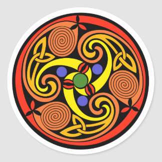 Celtic Spiral Stickers