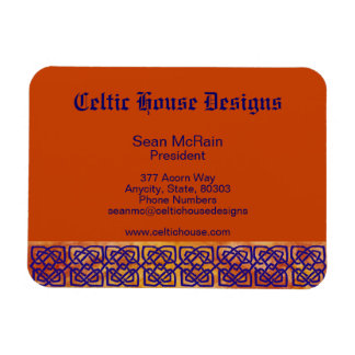 Celtic Square Knots on Paprika Rectangular Photo Magnet