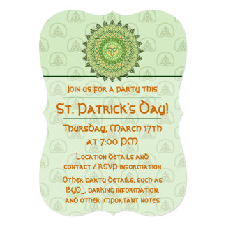 Celtic St. Patty's Day Party Invitation