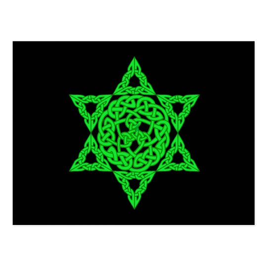 Celtic Star of David Postcard