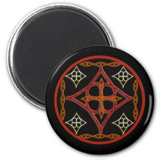 Celtic Style Circle 6 Cm Round Magnet