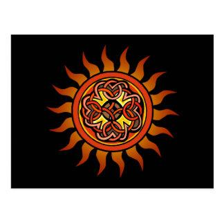 Celtic Sun 4 Post Cards