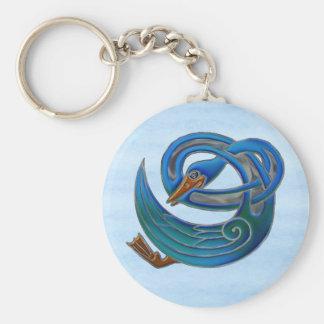 Celtic Swan Key Ring