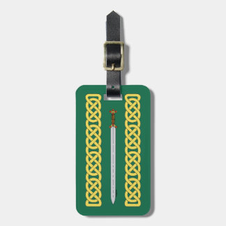 Celtic Sword and Knotwork Luggage Tag