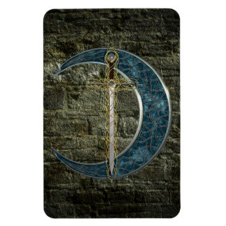 Celtic Sword and Moon Flexible Magnets
