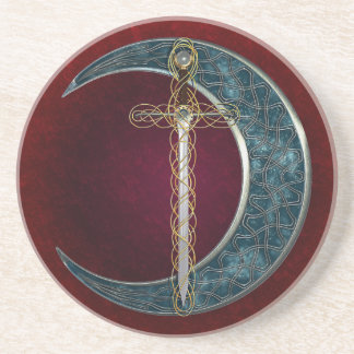 Celtic Sword and Moon Sandstone Coaster