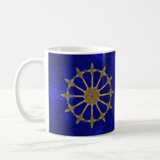 Celtic Swords Royal Blue Marble Coffee Mug