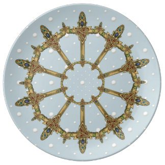 Celtic Swords with Pearls Plate