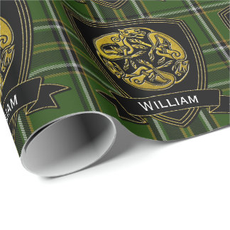 Celtic Symbol Irish Tartan Wrapping Paper