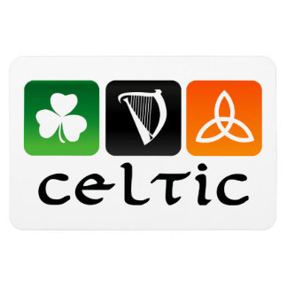 Celtic Symbols Rectangular Photo Magnet