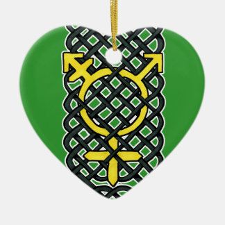 Celtic Transgender Ornament Yellow