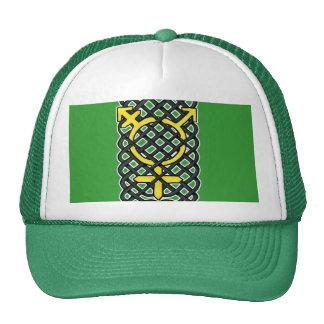 Celtic Transgender Symbol Yellow Mesh Hats