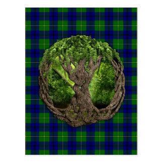 Celtic Tree Of Life And Clan Johnston Tartan Postcard