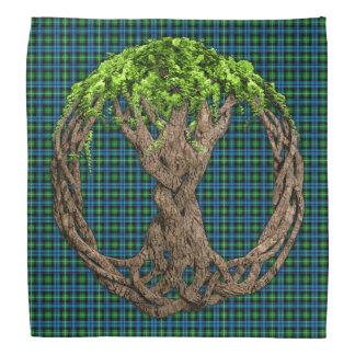 Celtic Tree Of Life And Clan Lamont Tartan Bandana