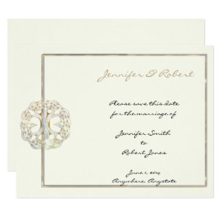 Celtic Tree of Life Gold Save the Date Card