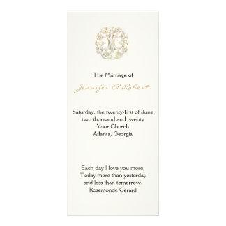 Celtic Tree of Life Gold Wedding Program Full Color Rack Card