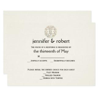 Celtic Tree of Life Gold Wedding Response Card