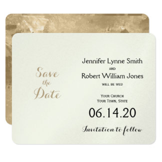 Celtic Tree of Life Gold Wedding Save the Date Card