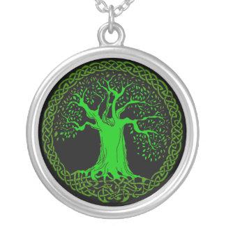 Celtic Tree Round Pendant Necklace