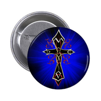 Celtic Tribal Cross Button