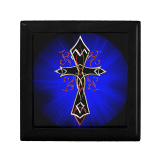 Celtic Tribal Cross Small Square Gift Box