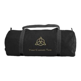 Celtic Trinity Circle Knot Personalized Duffel Bag Gym Duffel Bag