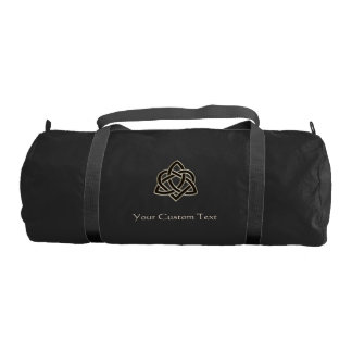 Celtic Trinity Heart Knot Personalized Duffel Bag Gym Duffel Bag
