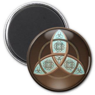 Celtic Trinity Knot 6 Cm Round Magnet