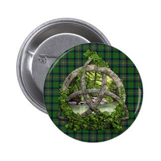Celtic Trinity Knot And Clan Kennedy Tartan 6 Cm Round Badge