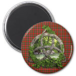 Celtic Trinity Knot And Clan MacAlister Tartan 6 Cm Round Magnet