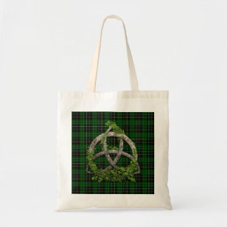 Celtic Trinity Knot And Clan MacAlpine Tartan Tote Bag