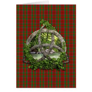 Celtic Trinity Knot And Clan Munro Tartan Card