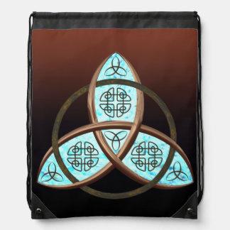 Celtic Trinity Knot Drawstring Backpacks