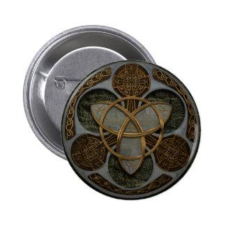 Celtic Trinity Shield 6 Cm Round Badge