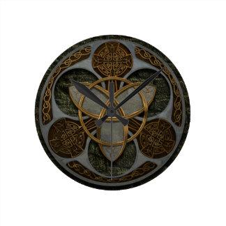 Celtic Trinity Shield Clocks
