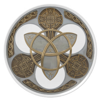 Celtic Trinity Shield Plate