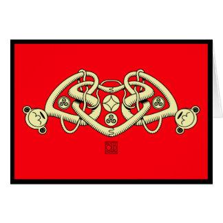 Celtic triple heart valentines card