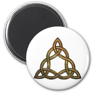 celtic triquetra 6 cm round magnet