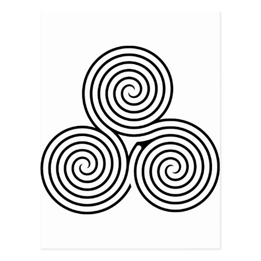 Celtic Triquetra Knot II Post Cards