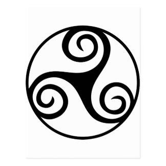 Celtic Triquetra Knot Postcard